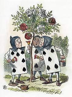 ملصق Carroll Alice 1865 Nthe Queen Of Hearts Gardeners رسم شجرة الورد من تصميم السيد جون تينيل من الإصدار الأول من مغامرات...
