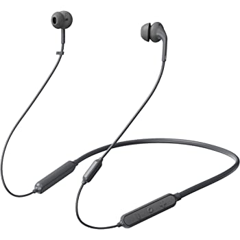233621 Wave. Bluetooth 5.0 Wireless Neckband Headphones. 15 Hrs Playtime, Stable, Reliable, Fast Pairing, Bluetooth 5.0, Calling Noise Reduction, IPX5 Waterproof & Skin-Friendly (Gray)