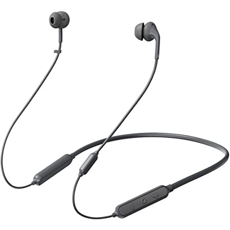 233621 Wave. Bluetooth 5.0 Wireless Neckband Headphones. 15 Hrs Playtime, Stable, Reliable, Fast Pairing, Bluetooth 5.0, Calling Noise Reduction, IPX5 Waterproof & Skin-Friendly (Black)
