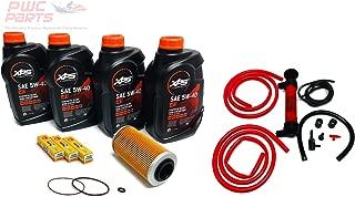 SeaDoo 4-TEC Oil Change Kit ALL 2002+ 4-TEC 130/155/185/215/255/260hp GTX RXT RXP RXP-X RXT-X GTI w/ 4 Quarts XPS 05W30 Oil, 4-TEC Oil Filter, O-Ring Kit, NGK Spark Plug Set, Deluxe Oil Extractor Pump