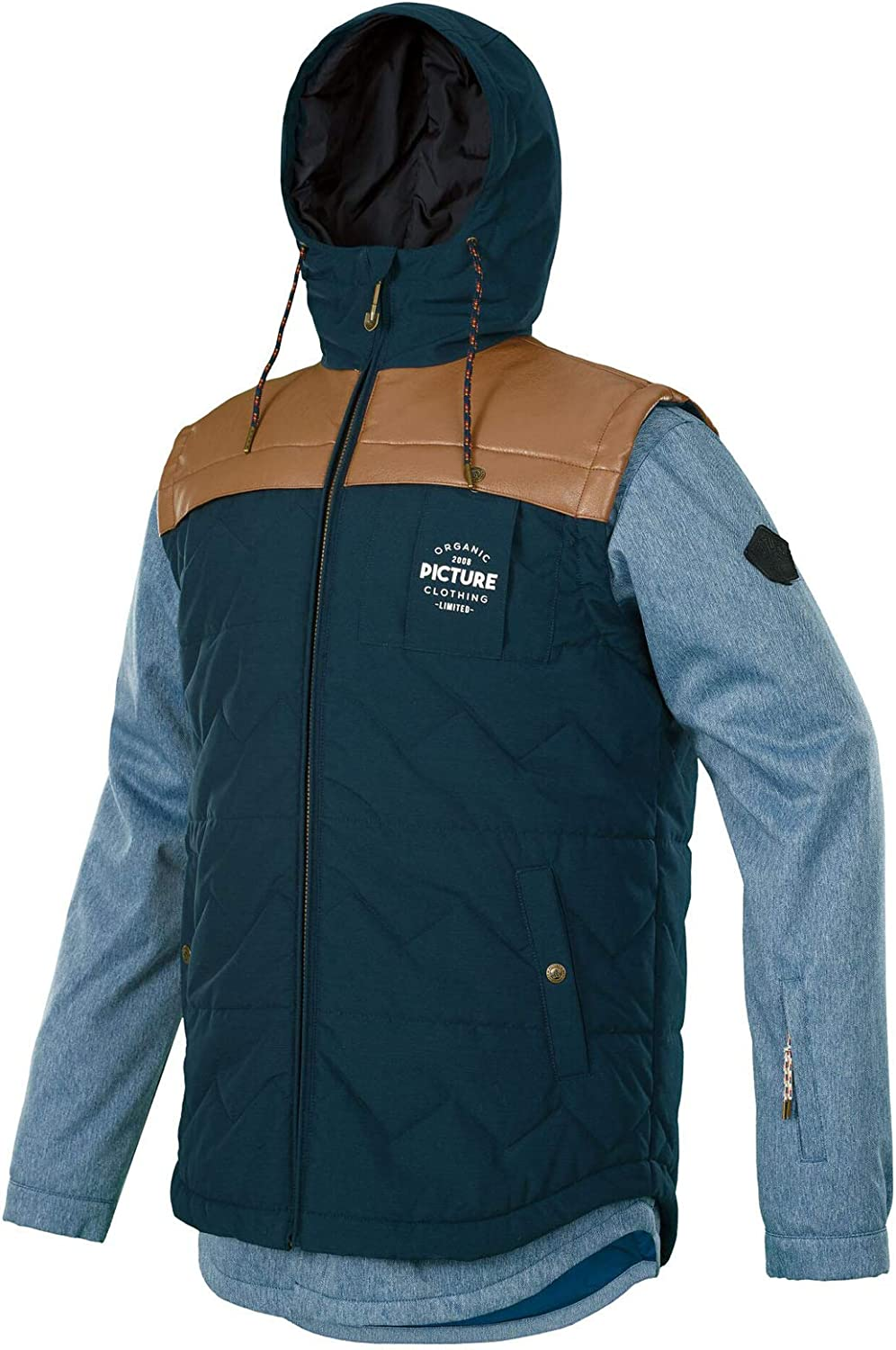 Picture Men's Crispin Ridingo Snowboard Jacket with Chest Pocket 2019 in DenimS