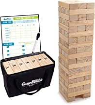 Giant Tumbling Timber Toy - Jumbo JR. Wooden Blocks Floor Game for Kids and Adults, 56 Pieces, Premium Pine Wood, Carry Ba...