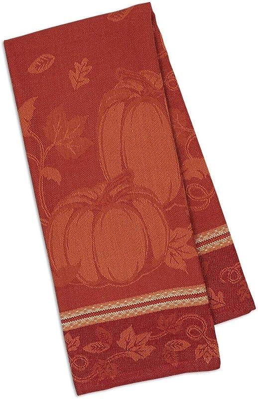 Design Imports Pumpkin Vine Jacquard Dishtowel Set Of 2 90539