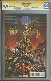 AGE OF ULTRON #1 CGC 9.9 WHITE PAGES