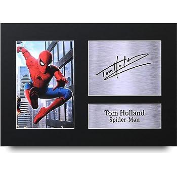 HWC Trading Tom Holland A4 Sin Marco Regalo De Visualización De Fotos De Impresión De Imagen Impresa Autógrafo Firmado por Spiderman Los Aficionados Al Cine