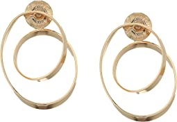 Gold Loop Hoop Earrings