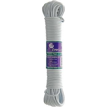 unzerbrechlich Schone Products schimmelresistent Starke Schnur UK 25 Meter Glow Blue W/äscheleine