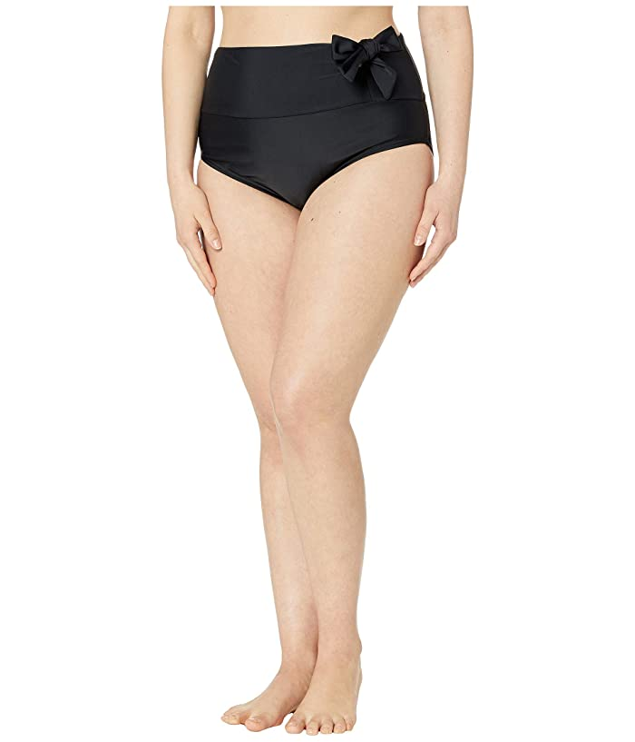 Unique Vintage Plus Size Frankie Swim Bottoms (Black) Women