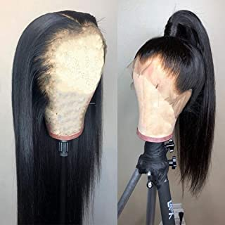 IWISH 360 lace frontal wig Human Hair With Baby Hair straight Lace Wig (18) 130% Density 9A Unprocessed Brazilian Straight Hair 360 Lace Frontal Wigs 360 Degree Lace Around