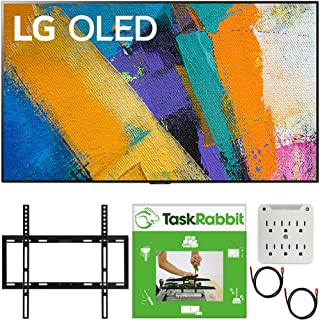LG OLED65GXPUA 65 inch GX 4K Smart OLED TV with AI ThinQ 2020 Model Bundle with TaskRabbit Installation Services + Deco Gear Wall Mount + HDMI Cables + Surge Adapter