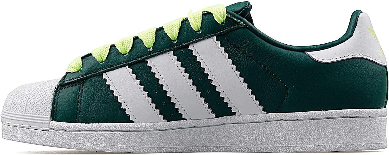 adidas Men's Superstar Gymnastics Shoes Green Collegiate Green Ftwr White Hi Res Yellow