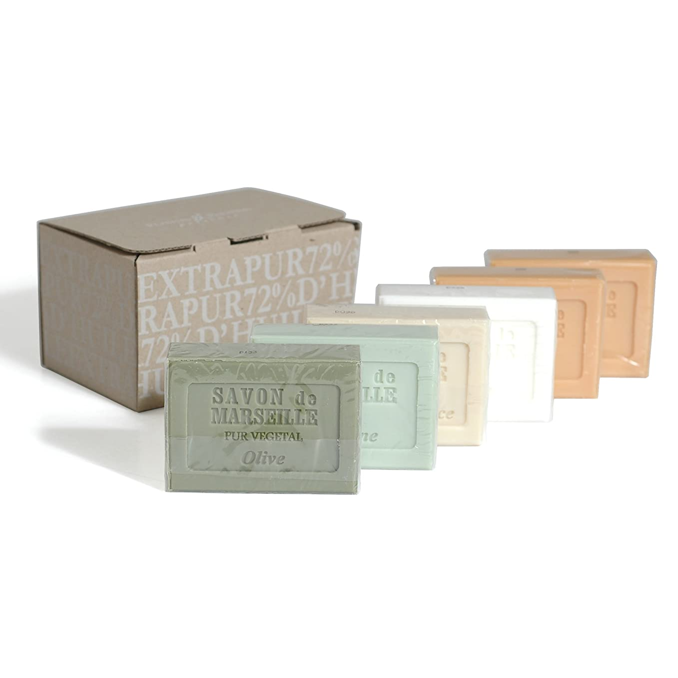 聴く多様性宣言するPlantes&Parfums [プランツ&パルファム] マルセイユソープセット 6pcs.