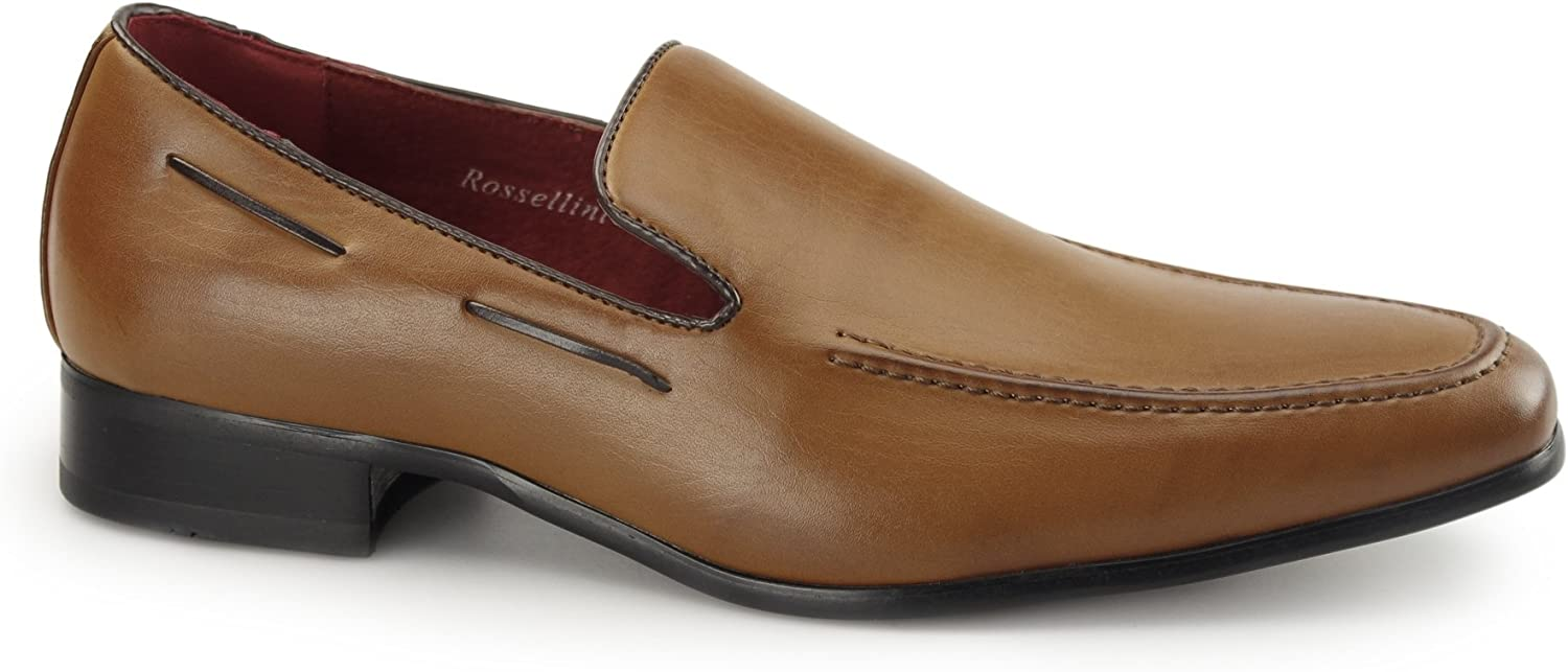 Shuperb RUNU KR2 Mens Faux Leather Loafers Brown