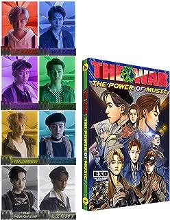4th Repackage [THE WAR Power of Music] EXO Korean Ver. Album CD + Official Poster + Comic book + Photo card