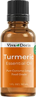 Viva Doria 100% Pure Turmeric Essential Oil, Undiluted, Food Grade, Turmeric Oil, 1 Fluid Ounce (30 mL) Natural Aromathera...