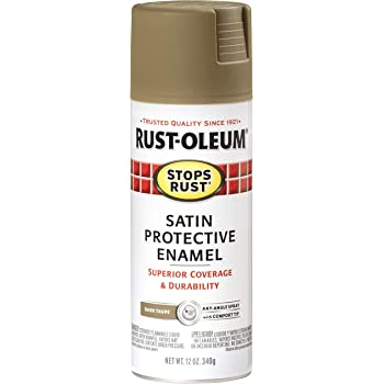 Rust-Oleum 241238 Satin Enamels Spray, Dark Taupe, 12-Ounce