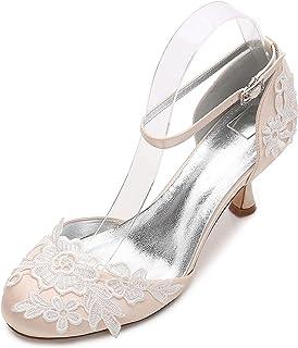 7ab783b7ff25fa Elegant high shoes Chaussures de Mariage pour Femmes D17061-7 Demoiselle  d'honneur Fleur