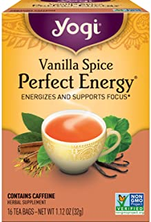 Yogi Tea - Vanilla Spice Perfect Energy (6 Pack) - Energizes and Supports Focus - 96 Tea Bags