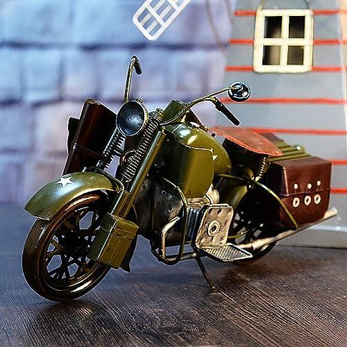 Modow Retro Moto Modèle Artisanat,Décoration en Métal OrneHommest Créatif.