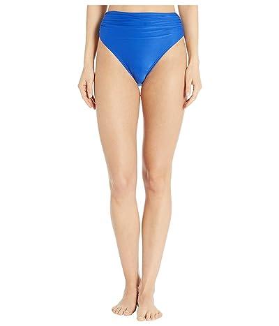 Carmen Marc Valvo Classic Shirred Waist Bikini Bottoms (Port Royale) Women