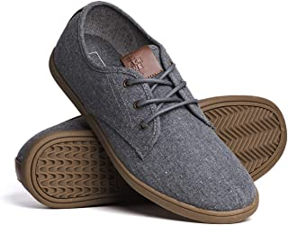 Blackwell Mens Isaac Canvas Casual Lace-Up Shoes with Memory Foam Insoles