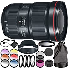Canon EF 16-35mm f/2.8L III USM Lens 11PC Accessory Kit - Includes 3 Piece Filter Kit (UV + CPL + FLD + 4PC Macro Filter Set (+1,+2,+4,+10) + MORE (Certified Refurbished)