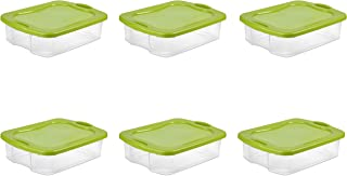 STERILITE Sterilite 35 Qt./33 L Latching Storage Bin, Lime Green