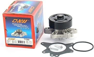 OAW T1980 Engine Water Pump for 98-08 Toyota Corolla, 03-08 Matrix + Pontiac Vibe, 00-05 MR2 Spyder, 00-05 Celica GT (1794cc 1ZZFE Engine) & 98-02 Chevrolet Prizm L4 1.8L