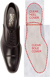 Bettli Sole Sticker - Crystal Clear Self-Stick Pads Sole Protector Shoe Bottoms Slip Resistant Shoe Sole Cover Protector for Mens Shoe Heels (Pack of 2)