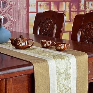 Wxiao Moderne Einfachheit Tabelle Flag Zen Teezeremonie Baumwolle und Leinen Tee Matte Moderne minimalistische Tischläufer Color : Khaki, Size : 33  160
