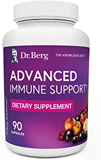 Dr. Berg's Advanced Immune Support - Daily Immunity Multi-System Defense Supplement with Vitamins C, D, Zinc, & Elderberry...