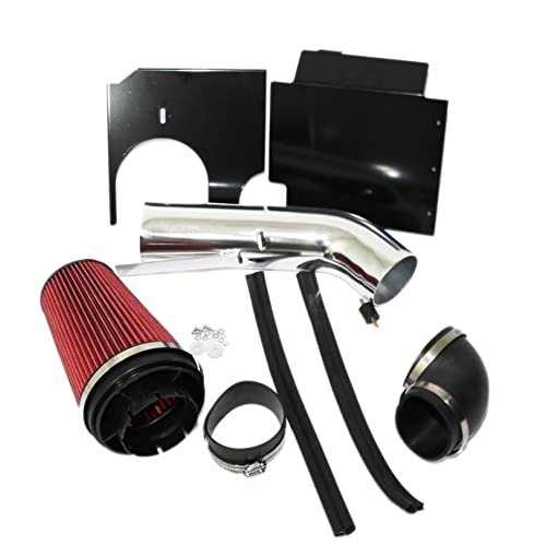 Water Guard Cold Air Ram Intake Cone Air Pre Filter Cover Suburban Medium Red