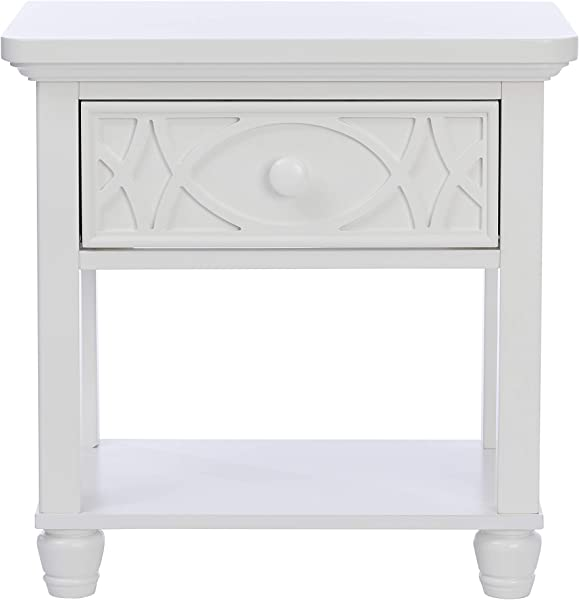 Baby Cache Haven Hill 1 Drawer Nightstand White Lace