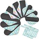 6pcs 10 pulgadas paño de bambú lavable almohadillas de ...