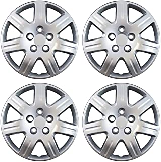16 inch Hubcaps Best for 2006-2013 Honda Civic - (Set of 4) Wheel Covers 16in Hub Caps Silver Rim Cover - Car Accessories for 16 inch Wheels - Snap On Hubcap, Auto Tire Replacement Exterior Cap)