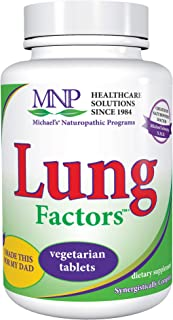 Michael's Naturopathic Programs Lung Factors - 120 Vegetarian Tablets - Nutrients for Functioning of The Lungs, with Vitam...