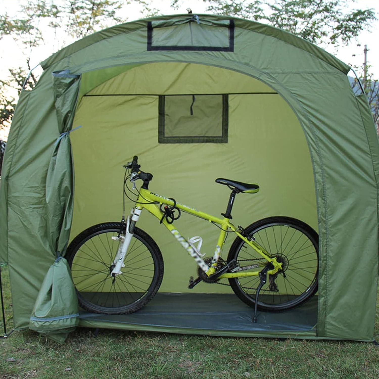 OUUUKL Cobertizo para Guardar Bicicletas - Cobertizo para Guardar Bicicletas Plegable - Camping al Aire Libre Jardín Patio Trasero Garaje Refugio para Cortacésped - Suciedad Resistente a la Lluvia