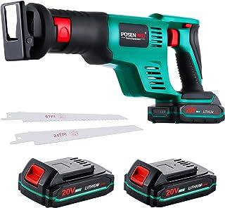 Sponsored Ad – Reciprocating Saw, POSENPRO Cordless Reciprocating Saw, Power Saw, 20V Cordless Saw w/2x2.0Ah Battery Power...