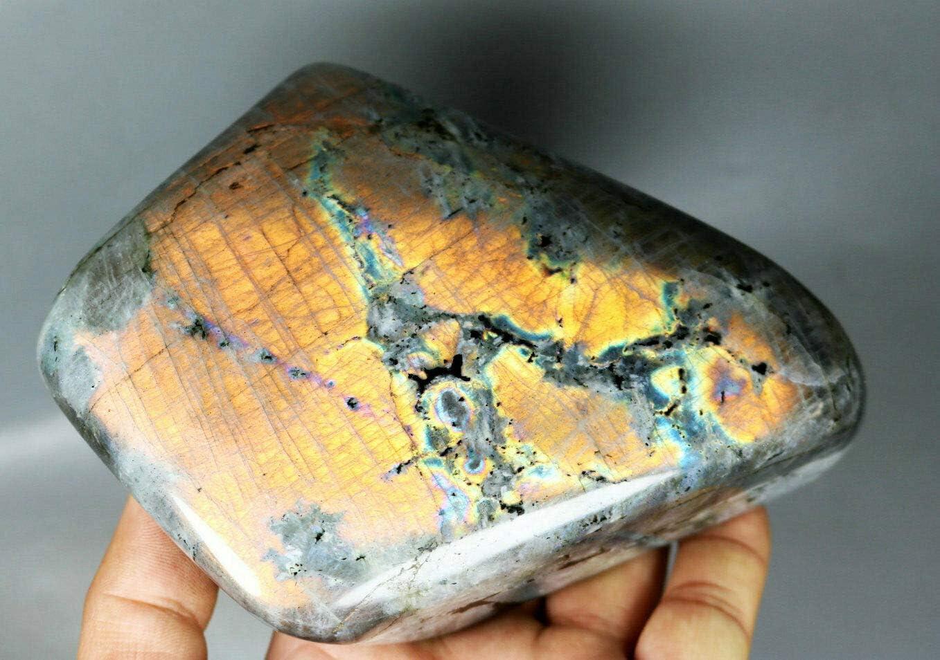 2.49lb Polished Rainbow Flash Spectrolite Palm Cryst Very popular Labradorite Year-end annual account