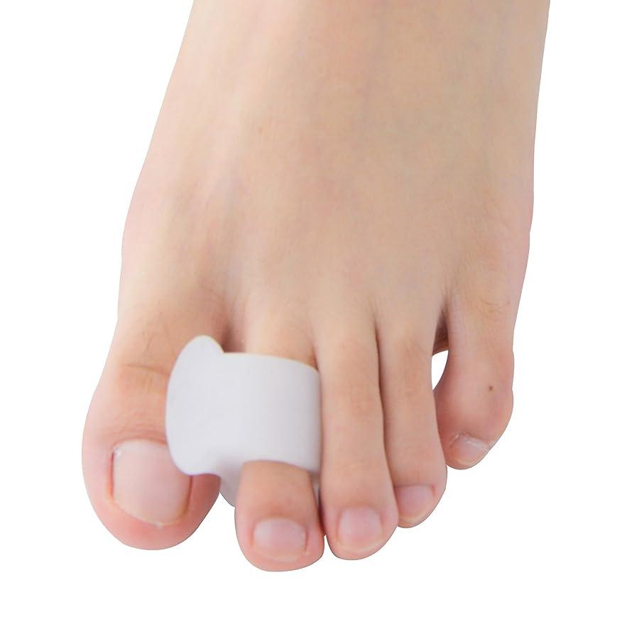 理容師成長中性Povihome ソフトゲル外反母趾セパレーターつま先バニオンプロテクターパッド,柔らかゲルでやさしくサポート (10個入り)