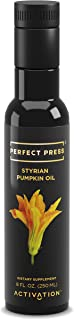 Activation Products, Perfect Press Styrian Pumpkin Oil – Powerful Antioxidant Pumpkin Seed Supplement – Organic, Vegan Liquid Pumpkin Seed Oil for Prostate, Bladder and Kidney Health, 250ml