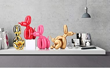 Squat Balloon Dog Statue Resin Sculpture Home Decor Modern Desk Office Home Decoration Accessories for Living Room Animal Fig