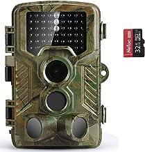 COOLIFE Cámara de Caza 21MP 1080P HD Trail Cámara con Visión Nocturna Impermeable IP56 con PIR Infrarrojo Sensor de Movimiento 46 Pcs IR Leds de 2.4