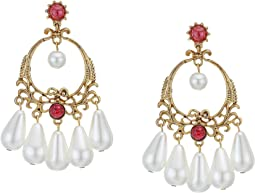 Antique Gold/Ruby/Pearl
