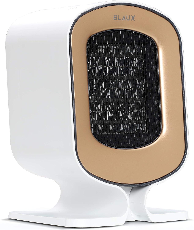 BLAUX HeatCore Calefactor Eléctrico Portátil - Calentador portátil doméstico y estufa de escritorio para oficina | Calefactor cerámico para interior | Radiador portátil eléctrico con filtro de aire