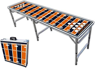 8-Foot Professional Beer Pong Table w/Optional Cup Holes - Chicago Football Field Graphic