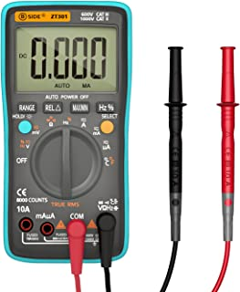 Digital Multimeter, Housolution True RMS 8000 Counts Auto-Ranging Digital Multi Tester Volt Amp Ohm Diode & Continuity Test for Households Electricians, Backlight LCD Display - BICE