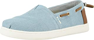 TOMS Kids Bimini (Little Kid/Big Kid) Navy Denim/Synthetic Trim 2.5 Little Kid