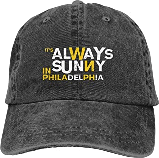 DADAJINN It's Always Sunny in Philadelphia Season Adjustable B-boy Cotton Washed Denim Cap Hat Black