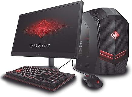 "HP Omen 880-001tla Bundle Desktop con Teclado, Mouse y Monitor 25"" FHD, AMD RYZEN 5 3.4 GHz, 8 GB RAM, 1TB Disco Duro, Windows 10"
